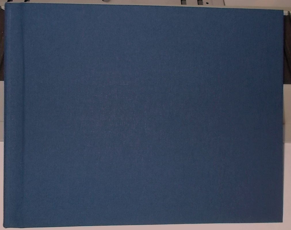 (10pcs) Unibind 9mm Premium Linen 8.5X11 Landscape Photobook  | Dark Blue (Navy)