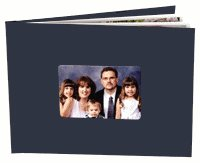 "(10pcs) 8.5x11"" Leatherette Landscape PhotoBook with 5 by 3 1/2 inch windows."
