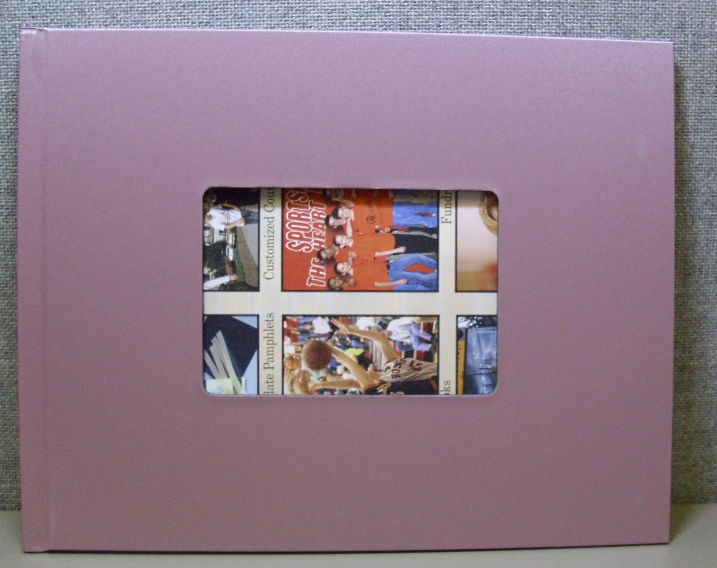 "10 Brushed Steel Pink Photobook, 8.5 x 11"" Landscape"