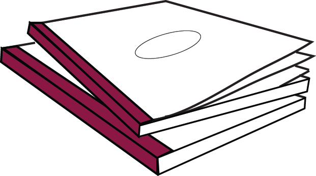 CoverBind Burgundy Advantage Clear Linen Covers