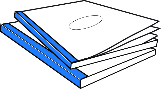 CoverBind Royal Blue Advantage Clear Linen Covers